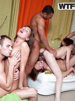 Group sex pics. Two women or two men having group sex.