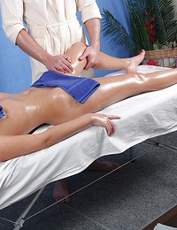 Sexy massage ends..