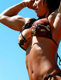Muscle women beauty.