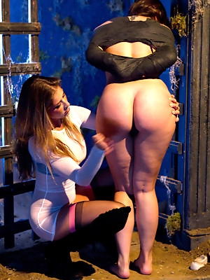 Bdsm porn pictures. Hard tied girls takes cock in the ass.