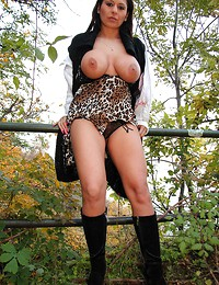 Sex outdoors with..