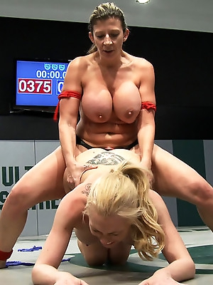 Tiny Blond vs Monster Boobage<br>A modern day David & Goliath, where Goliath has Monster EE tits