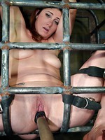 cage bdsm blowjob